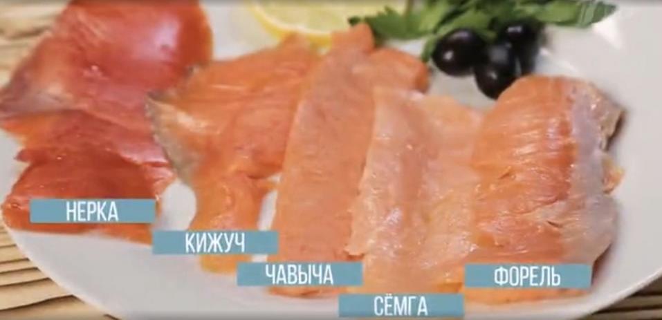 Сравнение мяса лососей