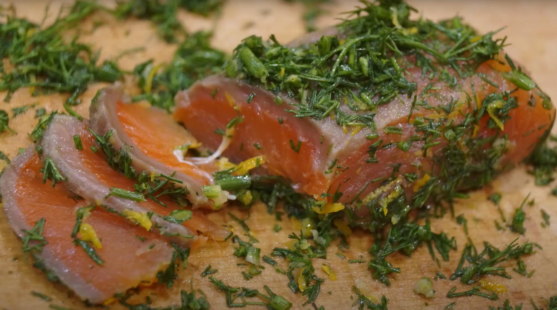 Красная рыба соленая по скандинавски