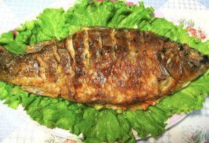 Запеченная в майонезе рыба